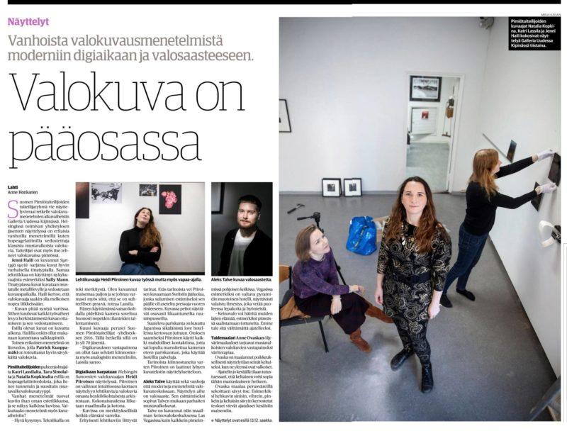 Etelä-Suomen Sanomat ke 25.11.2020